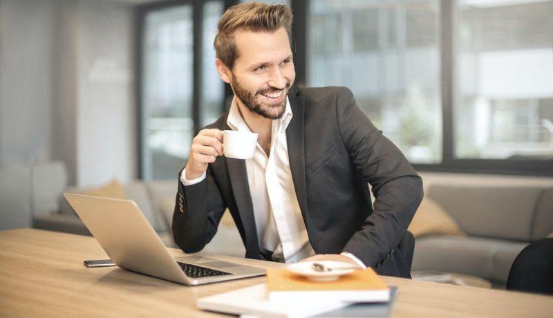 Executive Risk Management Business Man Desk Working